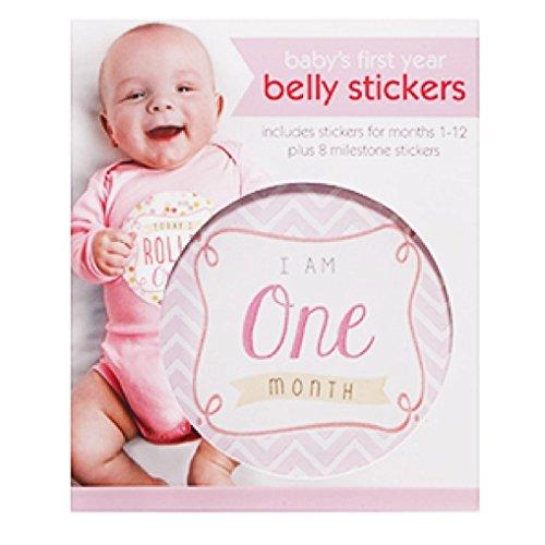C.r. Gibson First Year Belly stickers, 20 Milestone età e adesivi, per momenti speciali, ogni adesivo misura 11,4 cm D – ragazza