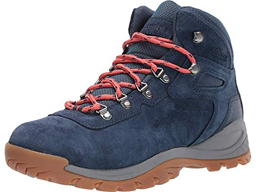 Columbia Women's Newton Ridge Plus Waterproof Amped Hiking Shoe, zinc, Coral, 7 Regular US by Columbia