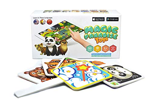 Magic Paradise Toys AR Augmented Reality 3D Flash Cards Interactive Language Educational Game for Kids (Teacher's Edition)