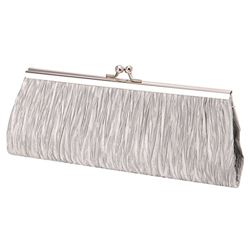 Bags Evening x Cocktail Leather Handbag for Women Purse inches with Chain Ladies 7 Outdoor Phone Shoulder 87 14 57 Black Metal Single Wedding Coin 1 Date Party x Shopping Silver UncleS 3 ZFqwPUEnSq