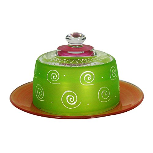 Accessories Ghs (Golden Hill Studio SS-Ghs-WC142016 Frosted Curl Light Green Cheese Dome)