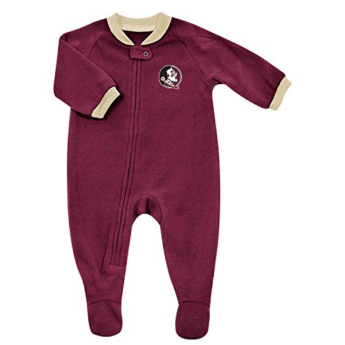 Pro Edge Infants' NCAA Florida State Seminoles Fleece Blanket Sleeper Footed Pajamas (0-3 Months) ()