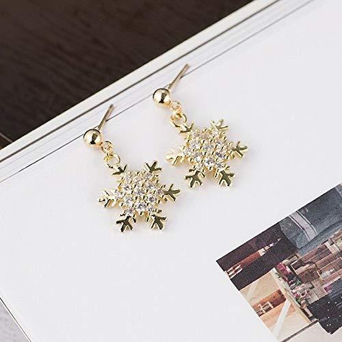 Rhame Jewelry Charm Silver Snowflake Pendant Woman Hook Earrings Stud Lover Gift 1pair | Model ERRNGS - 20248 |