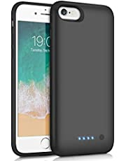 Feob Battery Case for iPhone Charging Case Extended Battery for Apple iPhone Rechargeable Portable Charger Case Battery Backup Power Bank - Black (iPhone 6/6s/7/8)