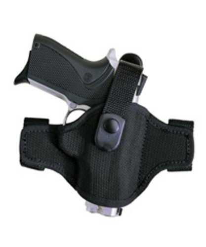 Bianchi Thumbsnap Belt Holster - Bianchi Accumold Holster 7506 Black Belt Slide - Size 15A with Thumbsnap, Glock 20, 21, 29, 30, 36 (Right Hand)