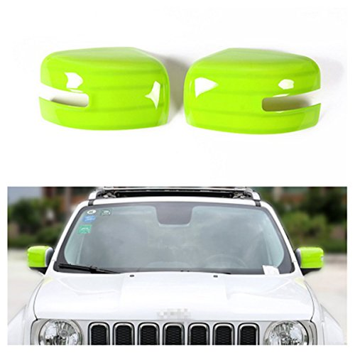 Dwindish Green ABS Car Mirror Rearview Cover Trim For Jeep Renegade 2015 Up