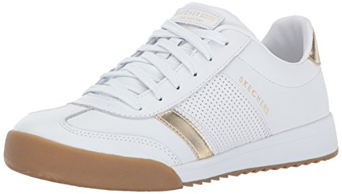 Sneaker Zinger Flicker White Skechers Gold Bianco Donna Zp8Ew6qw