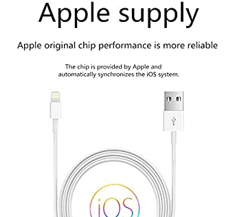 Fast iPhone Charging Cable Long Cord Compatible iPhone XS//Max//XR//X//8//8 Plus//7//7 Plus//6//6 Plus//6S//6S Plus More SHARLLEN iPhone Charger Cable White 5 Pack,3FT//6FT//10FT - MFi Certified