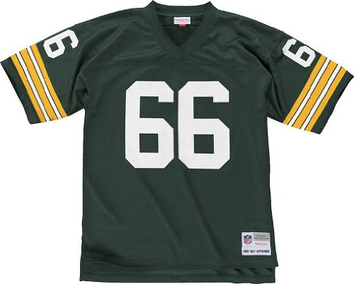Mitchell & Ness Green Bay Packers NFL 1966 Ray Nitschke #66 Replica Throwback Football Jersey (XX-LARGE) ()
