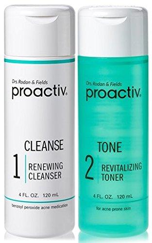 2PC SET Proactive CLEANSE + TONE ( Renewing Cleanser + Revitalizing Toner ) 4fl oz 120mL 60day