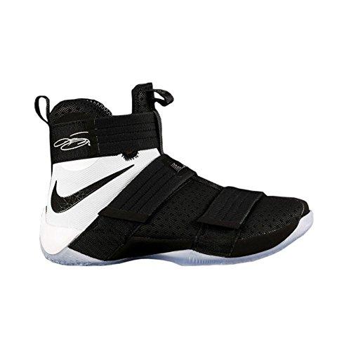Nike Mænds Lebron Soldat 10 Sfg Basketball Sko Sort Hvid 001 vaa3EsHoth