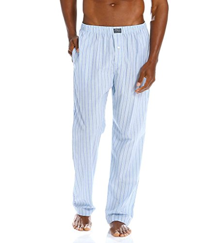 Polo Ralph Lauren Men's Woven Stripe PJ Pants Bari Stripe (Polo Pajama Pants)