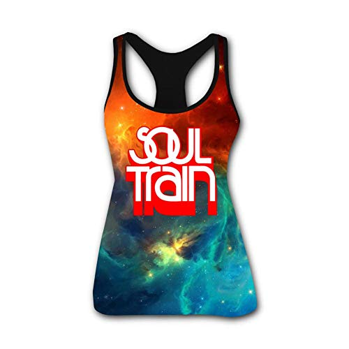Gujigur Womens Fashion Soul Train Red Logo Sports Casual Sleeveless Vest Creative 3D Printed Graphic Hipster Design ()