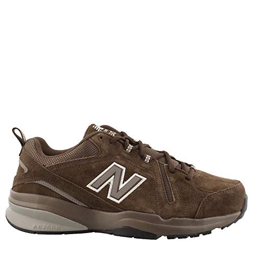 New Balance Men's 608v5 Casual Comfort Walking Shoe Chocolate Brown/White 11 D US
