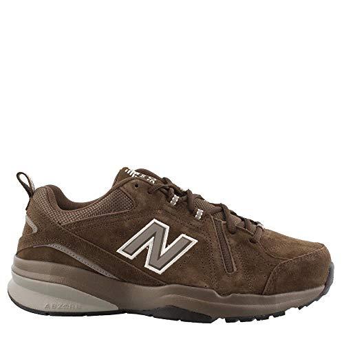 New Balance Men's 608v5 Casual Comfort Walking Shoe Chocolate Brown/White 11 D US