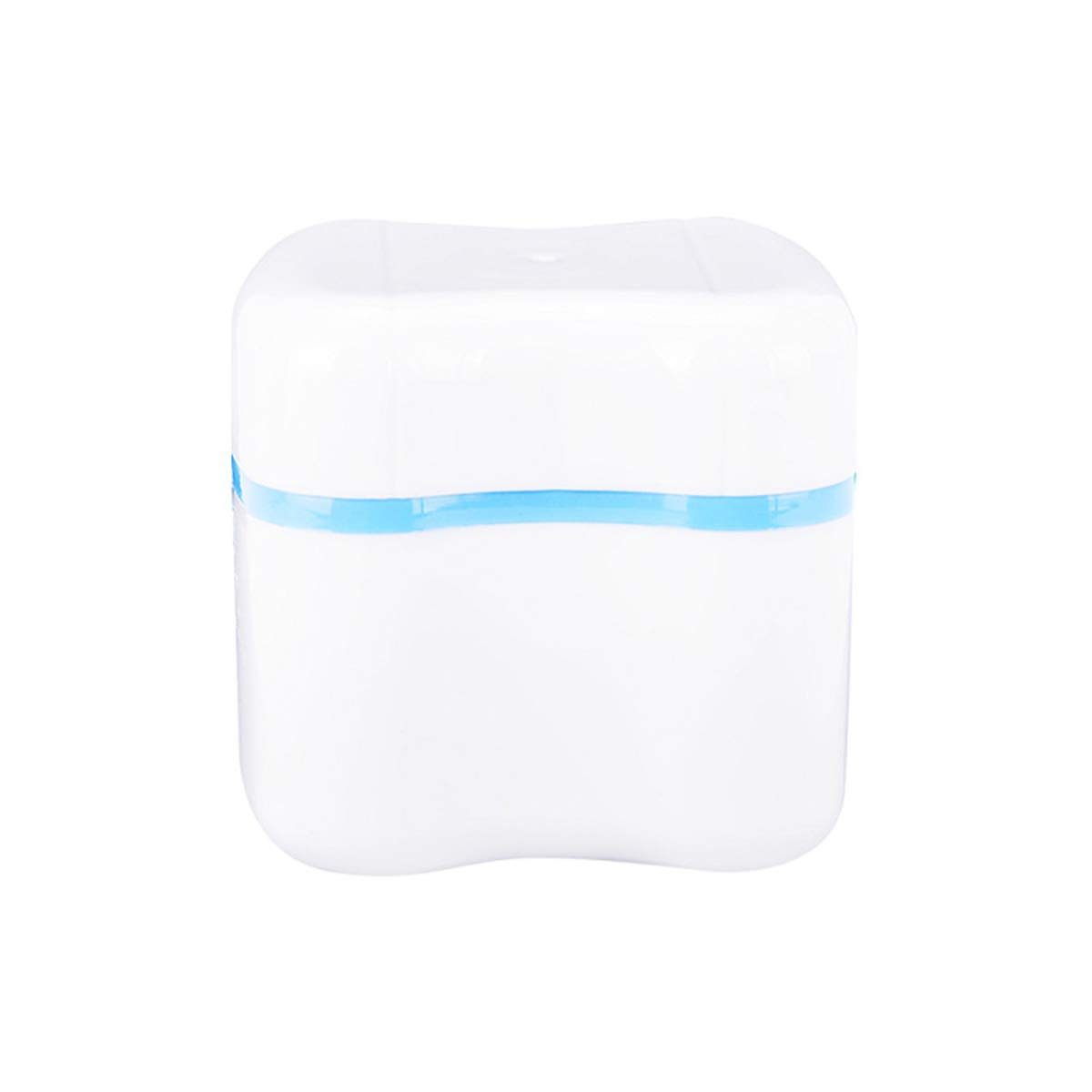 TJIRIS 50 Pieces Plastic Boxes Denture Bruth Retainer Case Container Box with Rinse Basket for Cleaning and Stroage