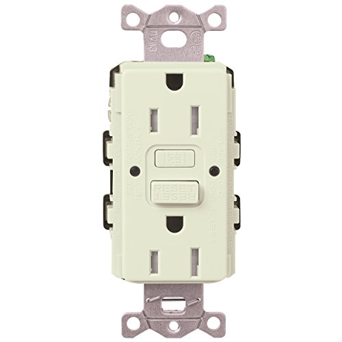 Lutron  SCR-20-GFST-BI  20-Amp  Tamper Resistant Self-Testing Receptacle, Biscuit -  Lutron Electronics Company, Inc.