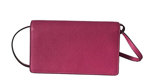 Coach Foldover Clutch Wallet Pebbled Leather Crossbody Bag (Cerise) by Coach (Image #3)