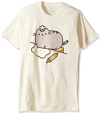 Pusheen Men's The Baker T-Shirt, Cream, Large