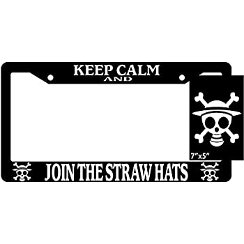 Amazon.com: One Piece Keep Calm And Join The Straw Hats Black ...