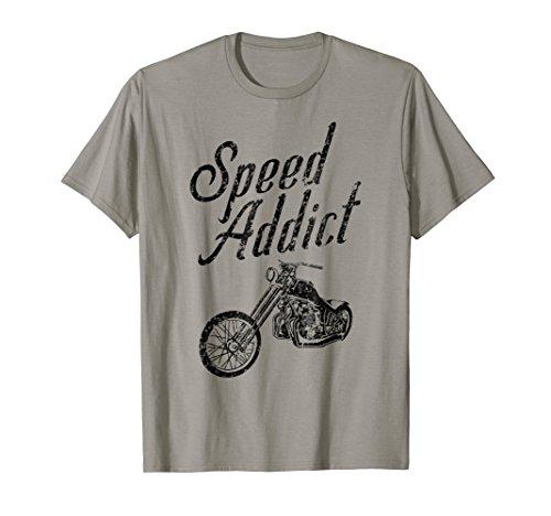 - Speed Addict Custom Bike Chopper Motorcycle T-Shirt