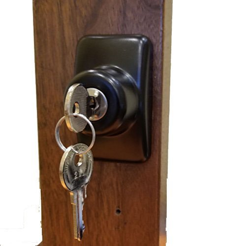 Keyed Storm Door Deadbolt - Black-1-1/2 Inch Thick Door by Home Products N' More (Image #7)
