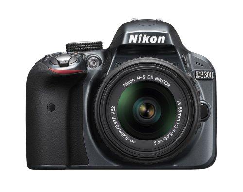 Nikon D3300 24.2 MP Digital SLR Camera  Grey  with 18 55mm Lens