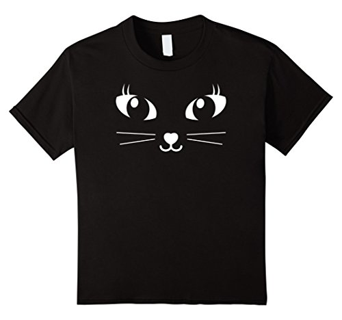 Cute Halloween Cat Faces (Kids Cute Cat Face Kids Halloween Costume Shirt 12 Black)