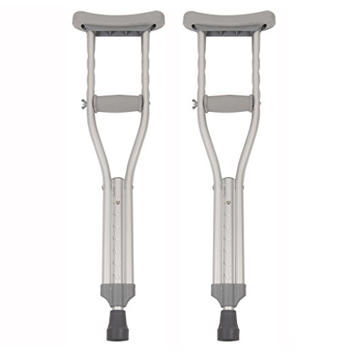 Lightweight Push Button Crutches, Child , 1 Pair