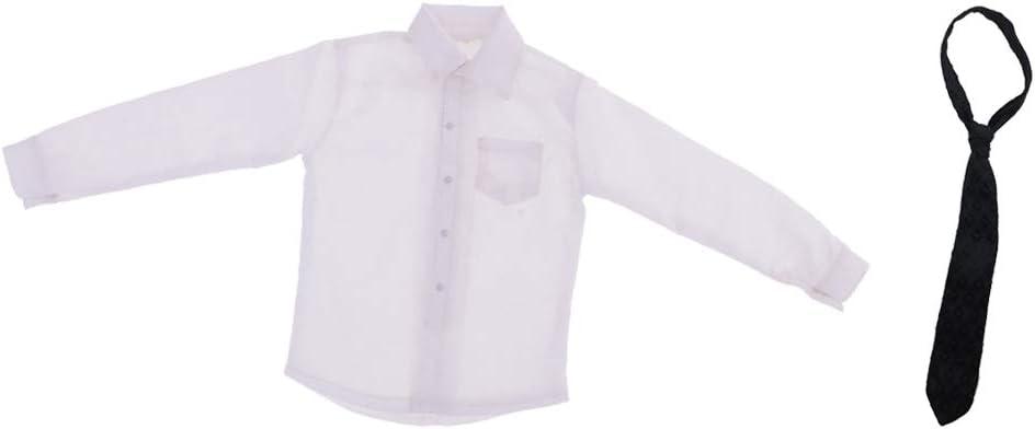 Amazon.es: P Prettyia 1/6 Camisa de Vestir Formal Y Corbata ...