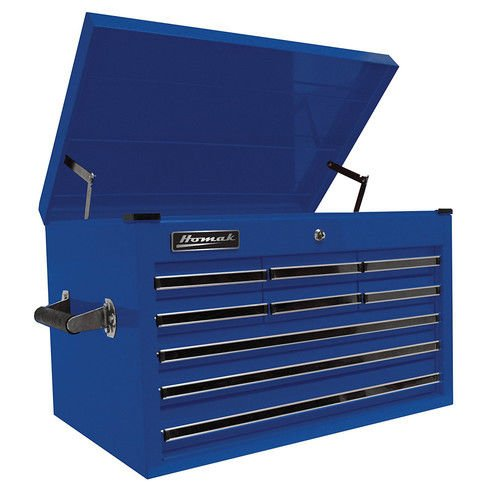 Homak 27-Inch Professional Series 9 Drawer Extended Top Chest, Blue, BL02027901 (6 Drawer Cabinet Side Series)