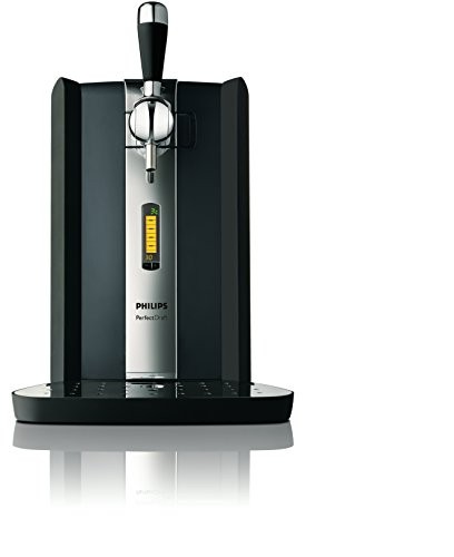 Philips HD3620/25 Perfect Draft Bierzapfanlage (Metallfässer 6 Liter) schwarz