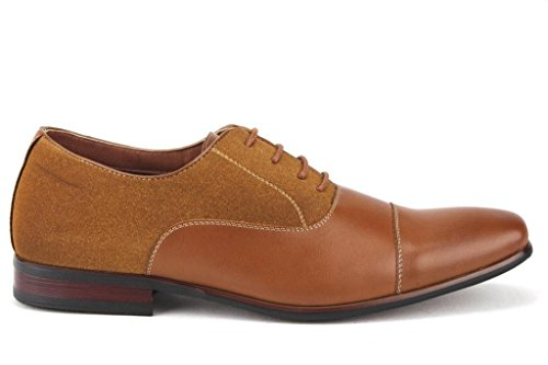 Mens 19506l Cap Toe Balmoral Oxfords Kjole Sko Brune