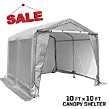kdgarden 10 x 20 ft. Heavy Duty Carport Portable Enclosed Car Canopy