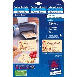 Avery Zweckform Visitenkarten Premium 85x54 mm 260 g/qm Inkjet beidseitig matt 80 Stück