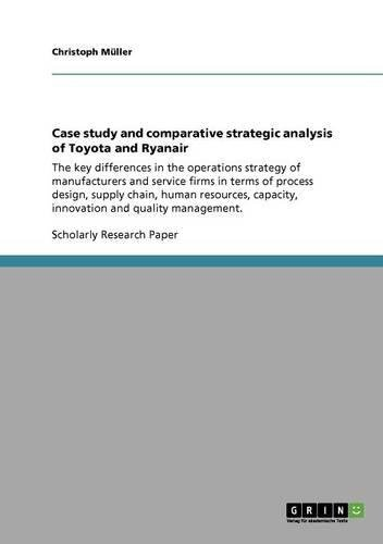 Read Online Case study and comparative strategic analysis of Toyota and Ryanair pdf epub