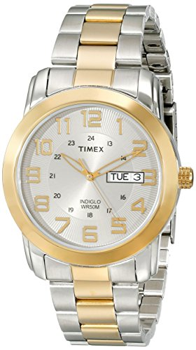 (Timex Men's T2N439 Highland Street Two-Tone Stainless Steel Bracelet Watch)