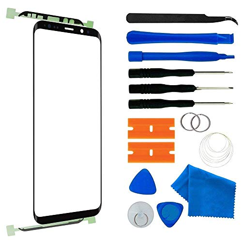 Original Samsung Galaxy S8 Plus Screen Lens Glass Replacement Kit,Front Outer Lens Glass Screen Screen Replacement Repair Kit for Samsung Galaxy S8+ G955 Series (Galaxy S8 Plus 6.2'- Black)