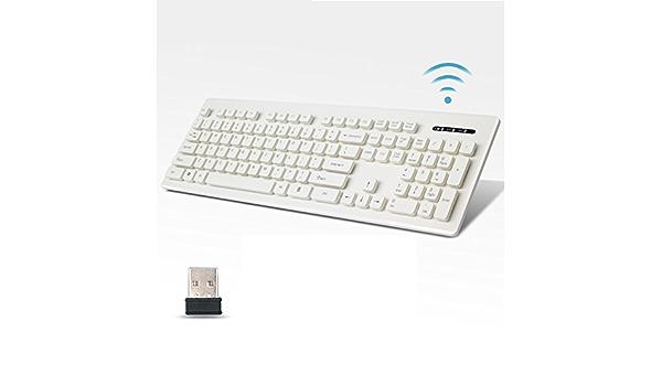 pxyuan, inalámbrico, teclado, juego, teclado, Super, fino ...