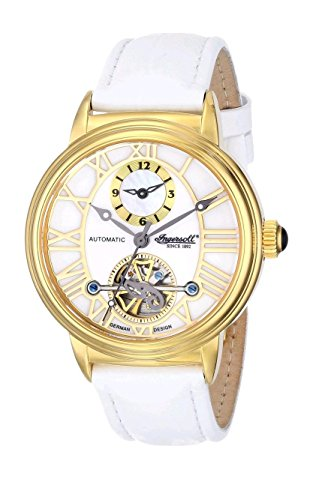 Ingersoll Women's IN5004GWH Baton Rogue Analog Display Chinese Automatic White Watch