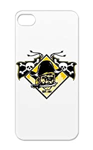 Rugged Pirate Pittsburgh T Shirts Sports The Burgh Pittsburgh Steel City Baseball Pirates White TPU Case Cover For Iphone 5s