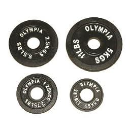 Olympic Black Plates Set- (0.5 Kg, 1.25 Kg, 2.5kg, 5 Kg) 4 Pairs
