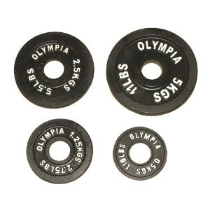 Black Olympic Plate (0.5kg, 1.25kg) 1 pair each