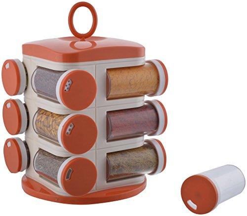 Floraware® 12-Jar Revolving Spice Rack, Orange
