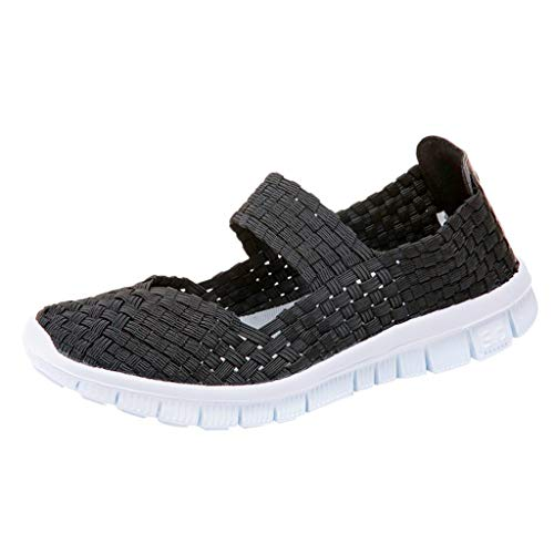 Dorical Zapatillas Ligeras Tejidas Malla Elastic Sandalias Mujer Resistentes Agua Transpirables Zapatos Mujer Agua…