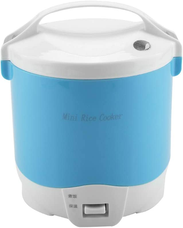 Travel Rice Cooker Mini Portable 24V for Trucks Car, 180W 1.6L Mini Rice Cooker Steamer 2 Cup, Stainless Steel Non-stick Inner Pot, for Cooking Soup, Stews, Grains & Oatmeal
