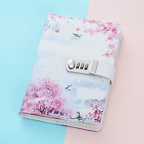 ToiM Tagebuch aus PU-Leder, A5, geheimes Tagebuch mit Schloss 150 * 215 mm Nachfüllpack