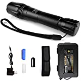Brightest Tactical Flashlight, LED Nightlight Flashlight - High Powered, Zoomable for Emergency Camping Accessories Hiking Everyday Use - Great Gift Surprise (1Pack Black)