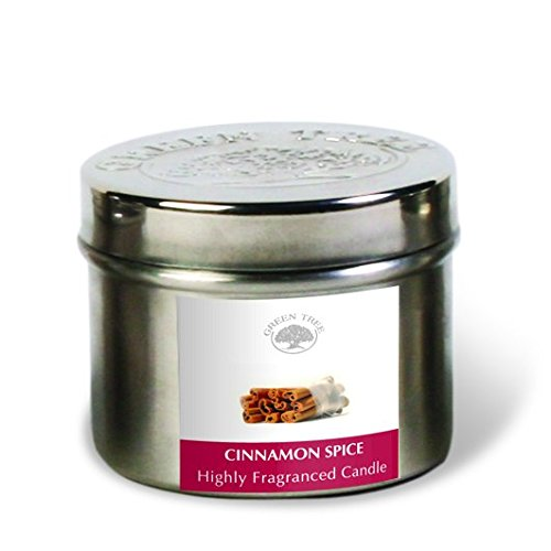 Green Tree 0805460312430 Cinnamon Spice Scent Candle