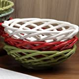 Casafina Green Medium Round Ceramic Bread Basket